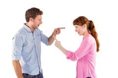 Par som argumenterar med de Royaltyfri Bild
