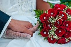 par som att gifta sig bara Arkivbild