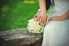 par som att gifta sig bara Royaltyfria Foton