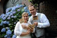 par som att gifta sig bara Fotografering för Bildbyråer