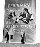 Par som brister till och med skottårkalender (alla visade personer inte är längre uppehälle, och inget gods finns Leverantörgaran Arkivbilder