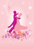 par som dansar den lyckliga waltzen Royaltyfri Fotografi