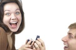 Par som får förlovade Arkivfoton