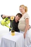 par som förväntar royaltyfria foton