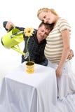 par som förväntar arkivfoton