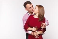 Par som firar ferie i modekläder Begreppsförbindelse, datum, dag för ` s för st Valentin Arkivfoton