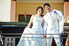 par som gifta sig nytt arkivbild
