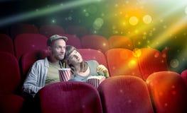 Par som håller ögonen på något som är mirakulös Arkivfoton