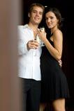 Par som har champagne Royaltyfria Foton