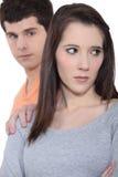 Par som har ett argument Royaltyfria Foton