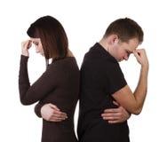 Par som har ett argument Arkivbild