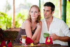 Par som har frukosten Royaltyfria Foton