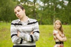 par som har, grälar Arkivfoto