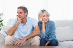 Par som inte talar efter en kamp Arkivfoto