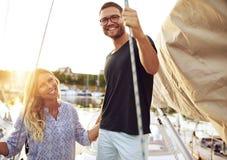 Par som köps ett fartyg Royaltyfri Fotografi