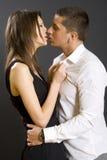 par som kysser skjutit studiobarn royaltyfria foton