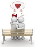 par som omfamnar att tänka för förälskelse Royaltyfri Bild