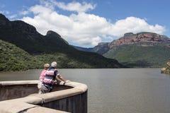 Par som reser Sydafrika Royaltyfria Bilder
