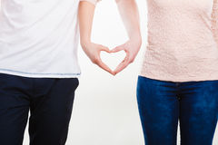 Par som rymmer deras händer Royaltyfria Bilder