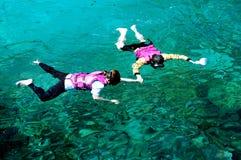 par som snorkeling Royaltyfri Foto