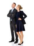 Par som talar om deras korporation royaltyfri bild