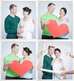 Par som väntar på den nya familjemedlemmen Royaltyfria Foton
