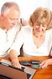 par starsze osoby Zdjęcia Royalty Free