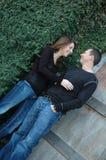 Par tillsammans Arkivfoton