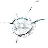 Par un trou de balle dans le verre photos libres de droits