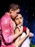Par under vattendroppe. Fotografering för Bildbyråer