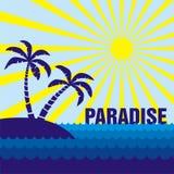 Paraíso Ilustração do Vetor