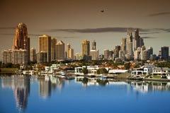 Paraíso Austrália dos surfistas de Gold Coast Fotos de Stock Royalty Free