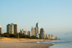 Paraíso Australia de las personas que practica surf Imagenes de archivo