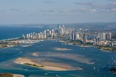 Paraíso Australia de las personas que practica surf foto de archivo libre de regalías