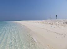 Paraíso blanco de la arena Fotografía de archivo