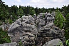 Paraíso bohemio (Prachovske skaly) Fotografía de archivo