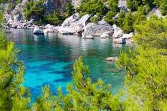 Paraíso de la isla en el mar adriático de Croacia Imagenes de archivo