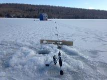 Paraíso de la pesca del hielo Fotos de archivo libres de regalías