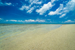Paraíso de la playa en la isla tropical de Okinawa Fotografía de archivo libre de regalías