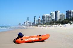 Paraíso de las personas que practica surf del bote de salvamento de la resaca Imagenes de archivo