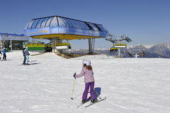 Paraíso de los esquiadores Imágenes de archivo libres de regalías