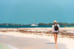 Paraíso de Playa de la playa de Sandy de la isla de Cayo largo, Cuba Copie el espacio para el texto Fotos de archivo