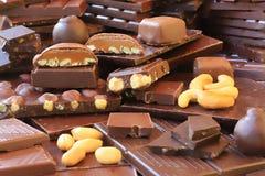 Paraíso del amante del chocolate Foto de archivo libre de regalías