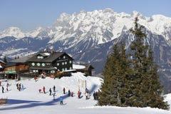 Paraíso dos esquiadores Imagens de Stock Royalty Free