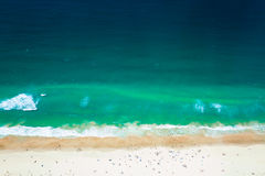 Paraíso dos surfistas de Gold Coast a praia, vista de Q1 Imagens de Stock