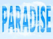 Paraíso en el símbolo imagen de archivo