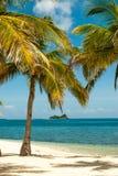 Paraíso en la isla tropical remota Fotografía de archivo