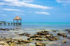 Paraíso en la playa del Caribe Tulum en México Foto de archivo libre de regalías