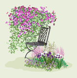 Paraíso floreciente ilustración del vector