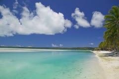 Paraíso ideal tropical da praia Foto de Stock